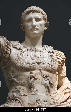 Roman Art. Augustus (61 BC-14 AD). First emperor of the Roman Empire. - Stock Photo