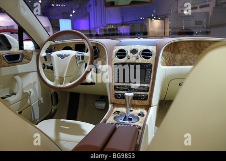 Bentley Continental Flying Spur Speed Interior - Stock Photo