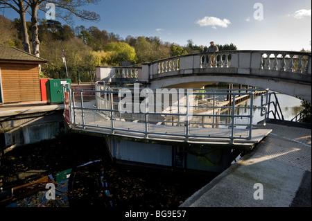Boulters Lock on the River Thames near Maidenhead Berkshire UK - Stock Photo