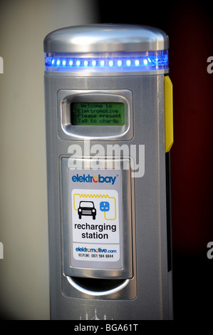 Electric car charging point in brighton - Stock Photo