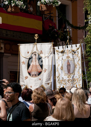 Detail of Corpus Christi day procession in Toledo (Spain) - Stock Photo