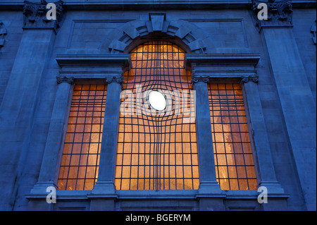 The contemporary East Window at St. Martin in the Fields church. London. UK 2009 - Stock Photo