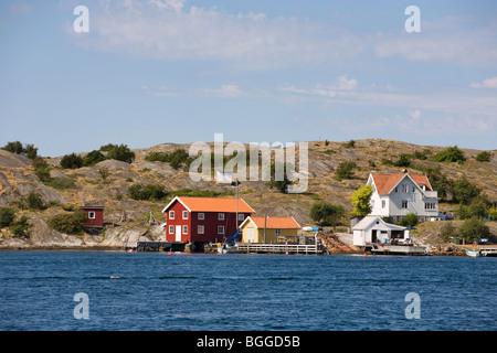 Summer house in the Swedish west coast archipelago - Stock Photo