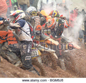MOTORBIKE STUNTS Germany stunrman stunt - Stock Photo