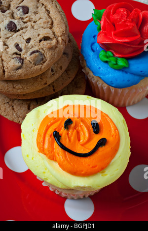 Cupcakes and cookies - Stock Photo