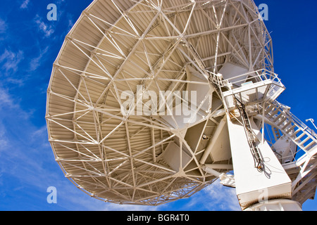 Radio Telescope, one of 27, located in an adjustable 'Y' arrangement on the Plains of Augustine, near Socorro, NM, - Stock Photo