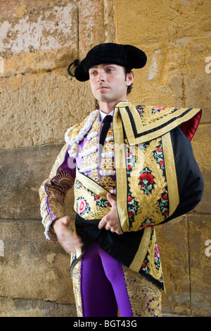 Portrait of a young bullfighter - Stock Photo
