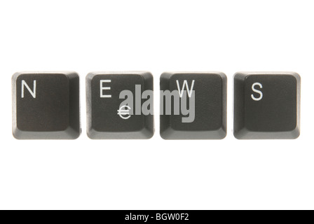 Computer keyboard keys spelling the word news - Stock Photo