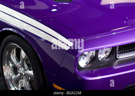 2009 2010 Dodge Challenger RT 5.7 Litre HEMI Plum Crazy Purple - Stock Photo