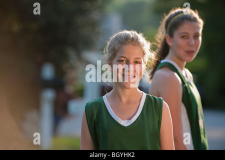 Girls in sports uniforms - Stock Photo