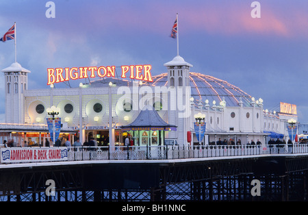 Europe, England, East Sussex, Brighton, Brighton Pier - Stock Photo