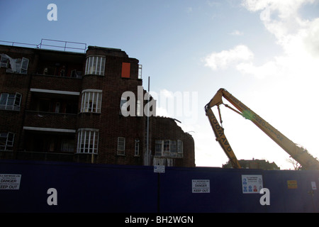 Demolition of a council estate in Hackney, East London - Stock Photo
