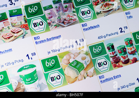 Bio food shopping online - Stock Photo