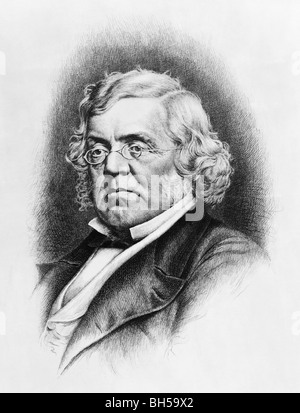 Portrait c1907 of author William Makepeace Thackeray (1811 - 1863) - the 19th century English novelist who wrote - Stock Photo