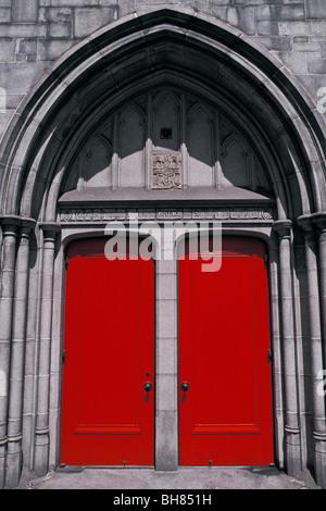 Doors Grace Cathedral San Francisco California - Stock Photo
