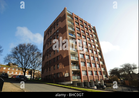 Council house blocks of flats on the whitehawk estate in brighton - Stock Photo
