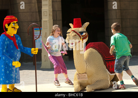 Children play at Legoland Windsor - Stock Photo