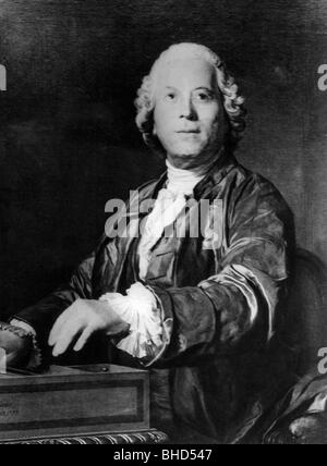 Gluck, Christoph Willibald, 2.7.1714 - 15.11.1787, German musician (composer), half length, painting by J. S. Duplessis, - Stock Photo