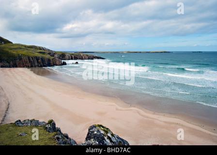 Traigh Allt Chailgeag Beach near Durness and Sangobeg North Coast of Scotland - Stock Photo