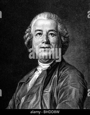 Gluck, Christoph Willibald, 2.7.1714 - 15.11.1787, German musician (composer), portrait, wood engraving, 19th century, - Stock Photo