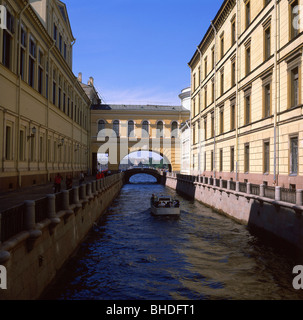 Bridge of Whispers, Saint Petersburg, Northwestern Region, Russia - Stock Photo