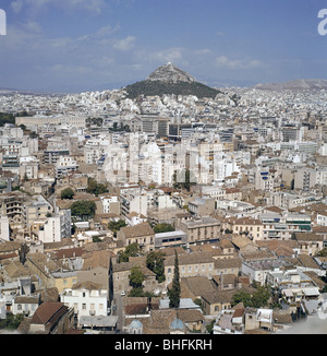 geography / travel, Greece, Athens, overview, view to Mount Lycabettus, 1960s, , Additional-Rights-Clearances-NA - Stock Photo