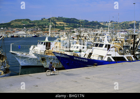 geography / travel, Italy, San Benedetto del Tronto, harbour, fishing port, Additional-Rights-Clearance-Info-Not - Stock Photo