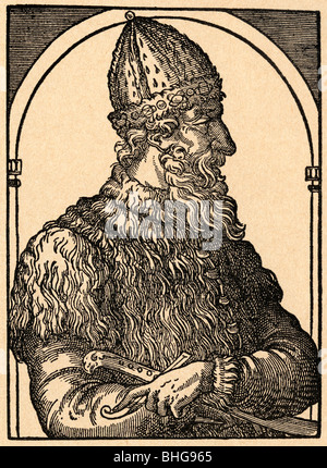 Ivan III Vasilevich 1440 - 1505. Ivan the Great. Grand Prince of Moscow. Grand Prince of all Russia. - Stock Photo