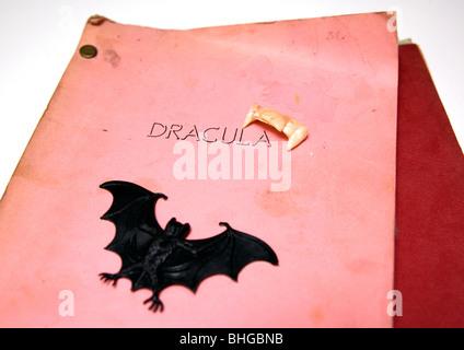 Horror film script - Stock Photo