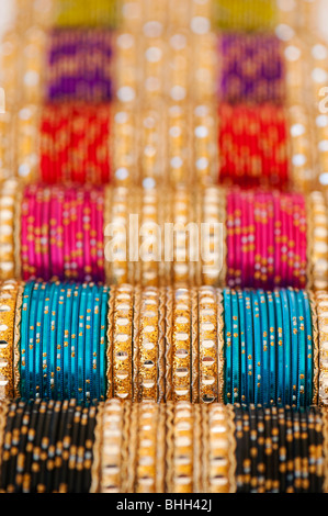 Indian womens bangles pattern - Stock Photo