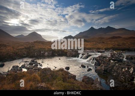 Marsco and Sgurr nan Gillean, Glen Sligachan, Isle of Skye, Scotland, UK - Stock Photo