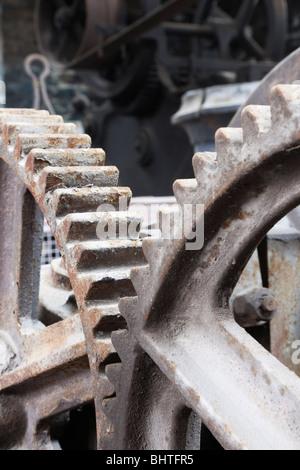 Industrial cog wheels interlocking - Stock Photo