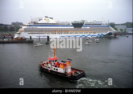The passenger ship Aida Diva in the harbour in Gothenburg, Sweden - Stock Photo