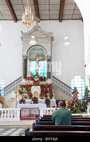 The church of the black christ in Juayua, Ruta de las Flores, El Salvador - Stock Photo