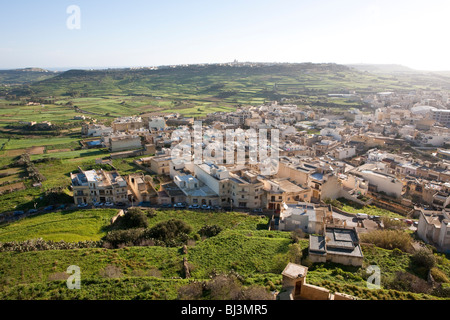 View from the Citadella or Citadel on Victoria, Rabat, Gozo, Malta, Europe - Stock Photo