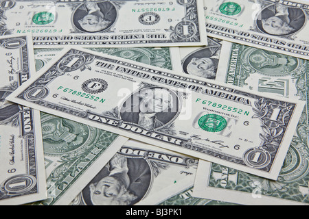 One-dollar bills - Stock Photo