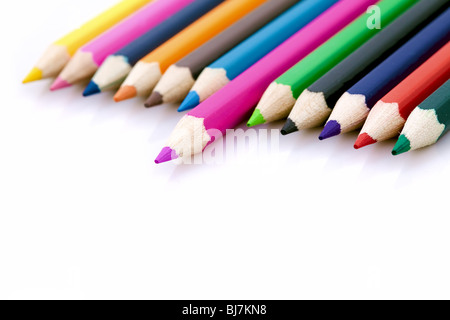 Winner or success metaphor with colorful pencils - Stock Photo