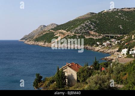 Adriatic coast,near Ulcinj,Montenegro - Stock Photo