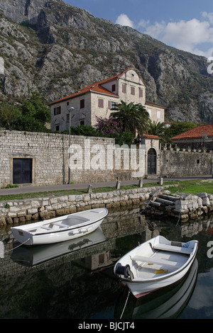 Dobrota,old palace,Kotor Bay,Montenegro - Stock Photo