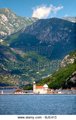 Our Lady of the Rocks Island Church (Gospa od Skrpjela), Kotor Bay, Montenegro - Stock Photo