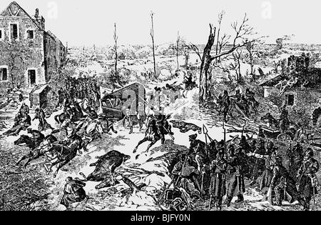 evants, Franco-Prussian War 1870 - 1871, Battle of Bapaume, 3.1.1871, drawing, 1st half 20th century, France, Germany, - Stock Photo