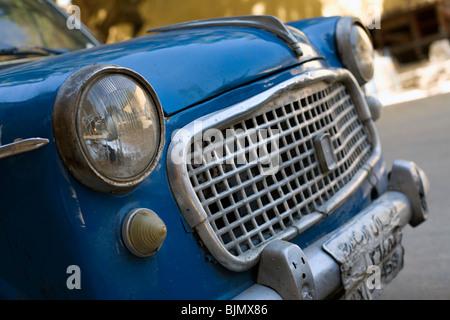 A retro car in Egypt - Stock Photo