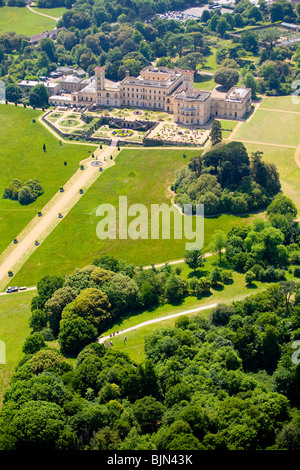 Aerial, Osborne House, East Cowes, Isle of Wight, England - Stock Photo
