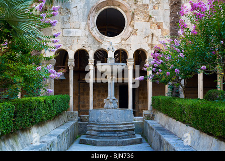 Cloister of the Franciscan Monastery,  Dubrovnik, Croatia - Stock Photo