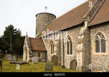 St mary's church.Burnham Deepdale. Norfolk - Stock Photo