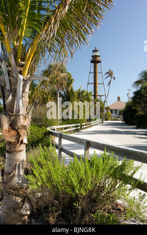 Sanibel Island Lighthouse - Sanibel Island, Florida  USA - Stock Photo