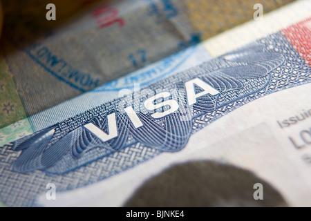 United States Travel Visa - Stock Photo