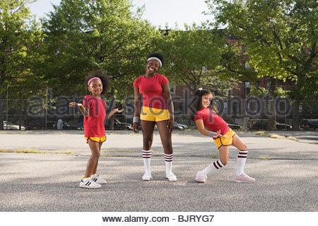 Girls in playground - Stock Photo