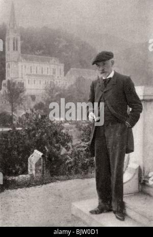 Joris-Karl Huysmans, French novelist, 1900. Artist: Unknown - Stock Photo