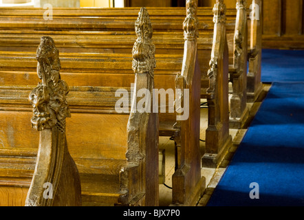 Wooden Pews - Stock Photo